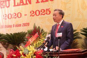 Bộ trưởng Tô Lâm dự và chỉ đạo Đại hội Đảng bộ tỉnh Bắc Ninh