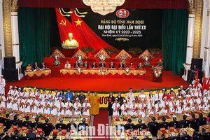 Đại hội đại biểu Đảng bộ tỉnh Nam Định lần thứ XX, nhiệm kỳ 2020-2025