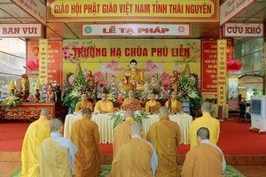 Lễ tạ pháp An cư của Tăng Ni tỉnh Thái Nguyên