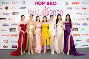 Hoa hậu doanh nhân Xuân Hương rạng rỡ tại buổi họp báo Hoa hậu Việt Nam 2020