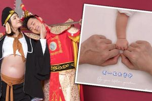 Báo tin vợ sinh, Lâm Phong khoe luôn bộ ảnh bầu 'Ngộ Không – Bát Giới'