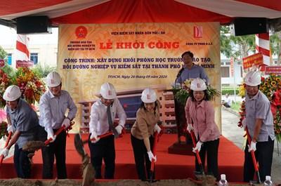 Khởi công xây dựng khối phòng học Trường Đào tạo, Bồi dưỡng nghiệp vụ kiểm sát tại TP HCM