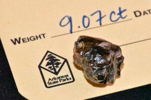 Giám đốc ngân hàng tìm thấy kim cương 9,07 carat ở công viên Mỹ