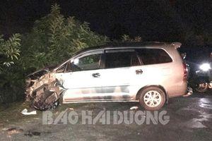 Hải Dương: Ô tô đâm 4 xe máy trong đêm, nhiều người bị thương nặng