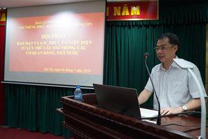 Ban Cơ yếu tổ chức hội thảo về bảo mật, xác thực tài liệu điện tử
