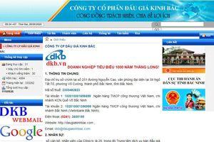 Công ty đấu giá hợp danh Kinh Bắc: 'Treo đầu dê, bán thịt chó' trên Cổng thông tin Bộ Tư pháp
