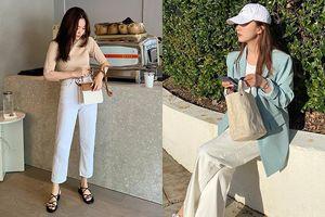 Ngại diện quần jeans đi làm vì vẻ bụi bặm, phải chăng bạn đã quên sự tồn tại của quần jeans trắng?
