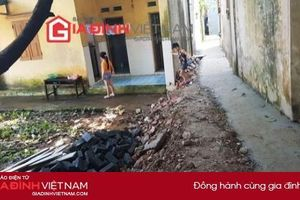 Gia Lâm, Hà Nội: Dân bất an khi mương nước cao hơn nền nhà