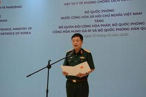 Trao tặng vật tư y tế phòng, chống dịch Covid-19 cho quân đội Pháp, Hungary và Hàn Quốc