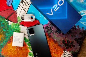 vivo V20: Thiết kế mỏng, trọng lượng nhẹ
