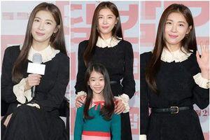 'Hoàng hậu Ki' Ha Ji Won bị soi da lão hóa, cằm nọng trong buổi họp báo ra mắt phim mới