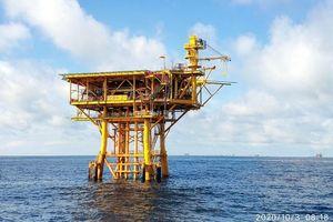 Giàn BK21, mỏ Bạch Hổ đón dòng dầu đầu tiên