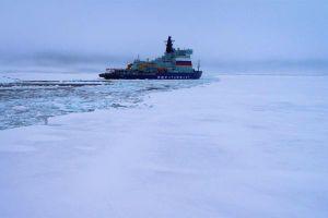 Tàu phá băng nguyên tử mạnh nhất thế giới Arktika đã đến Bắc Cực