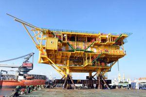 Giàn BK-21, mỏ Bạch Hổ đón dòng dầu đầu tiên