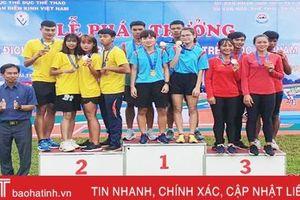 Điền kinh Hà Tĩnh phá kỷ lục quốc gia tại Giải vô địch Điền kinh trẻ 2020