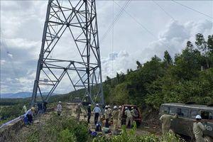 Nguy cơ từ các điểm sạt lở gần các vị trí cột đường dây 500 kV Bắc – Nam