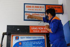 Xăng tăng giá lên mức hơn 15.000 đồng/lít