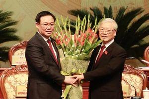 Đồng chí Vương Đình Huệ tiếp tục được bầu giữ chức Bí thư Thành ủy Hà Nội với số phiếu tuyệt đối