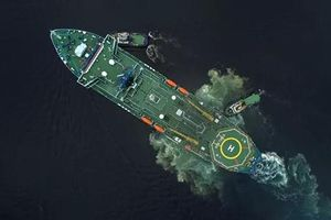 Nga công bố ảnh tàu Arktika rẽ sóng tại Bắc Cực