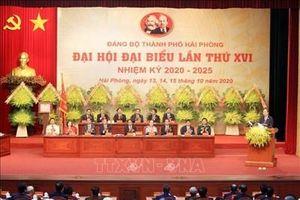 Đồng chí Nguyễn Xuân Phúc dự chỉ đạo Đại hội Đảng bộ TP Hải Phòng lần thứ XVI
