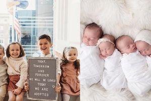 Cặp đôi hiếm muộn nhận nuôi 4 đứa trẻ là anh em ruột, đúng 4 năm sau thì sinh 4 em bé nữa
