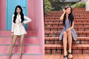 Chân dài như Jang Won Young cũng khổ: Đi tìm ứng dụng giúp thu ngắn chân khi chụp ảnh