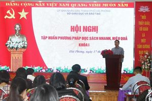 Hải Phòng: Tập huấn phương pháp đọc sách nhanh, hiệu quả cho hơn 70 giáo viên cốt cán