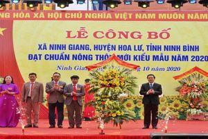 Ninh Giang trở thành xã đầu tiên đạt chuẩn nông thôn mới tại huyện Hoa Lư (Ninh Bình)