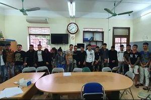 Bắt quả tang 19 thanh niên ở Lào Cai tụ tập bay lắc