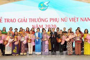 7 tập thể và 10 cá nhân nhận Giải thưởng Phụ nữ Việt Nam năm 2020