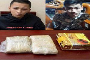 Bắt hai đối tượng thu giữ 1 kg ma túy đá cùng 10.000 viên ma túy