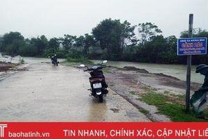 Hương Khê: Người đàn ông tử vong khi đi xe máy qua đập tràn