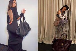 Chị em Kardashian diện đồ hiệu, cô chị lộ nội y - người em như quấn rèm