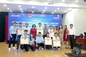 Đồng Nai có hai thí sinh đoạt huy chương vàng kỳ thi Kỹ năng nghề quốc gia năm 2020