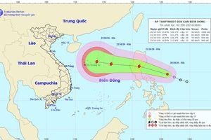 Áp thấp nhiệt đới giật cấp 9 sắp vào Biển Đông