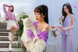 Học Quỳnh Anh Shyn, Jun Vũ, AMEE… cách phối sắc tím với trang phục Thu Đông cực đẹp