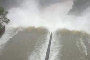Mực nước hồ Kẻ Gỗ đã an toàn