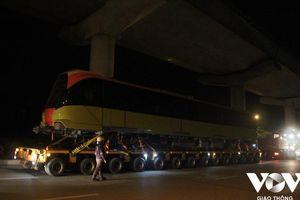 Đoàn tàu điện đầu tiên tuyến Nhổn - ga Hà Nội được đưa về Depot Nhổn