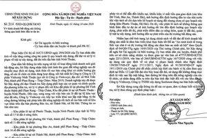 Ninh Thuận: Một doanh nghiệp bị 'tuýt còi' vì phân lô bán nền trái phép