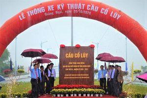 Thông xe kỹ thuật cầu Cổ Lũy hiện đại nhất Quảng Ngãi