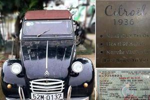 Xe Citroel cổ của NSND Út Trà Ô được đấu giá để ủng hộ đồng bào miền Trung