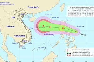 Thời tiết ngày 20/10: Áp thấp nhiệt đới gần biển Đông và có khả năng mạnh lên thành bão