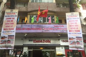 Thông báo tiếp nhận ủng hộ chương trình 'Chung tay ủng hộ đồng bào vùng lũ miền Trung'