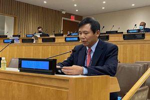 Biển Đông: Trưởng phái đoàn Việt Nam tại LHQ kêu gọi các bên liên quan tuân thủ luật pháp quốc tế, thúc đẩy xây dựng lòng tin