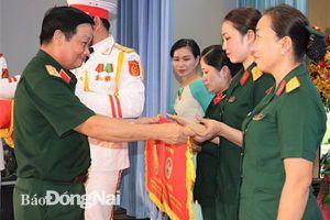 Hội Phụ nữ cơ sở Bộ Chỉ huy quân sự tỉnh đoạt giải ba tại hội thi Nữ quân nhân thanh lịch Quân khu 7