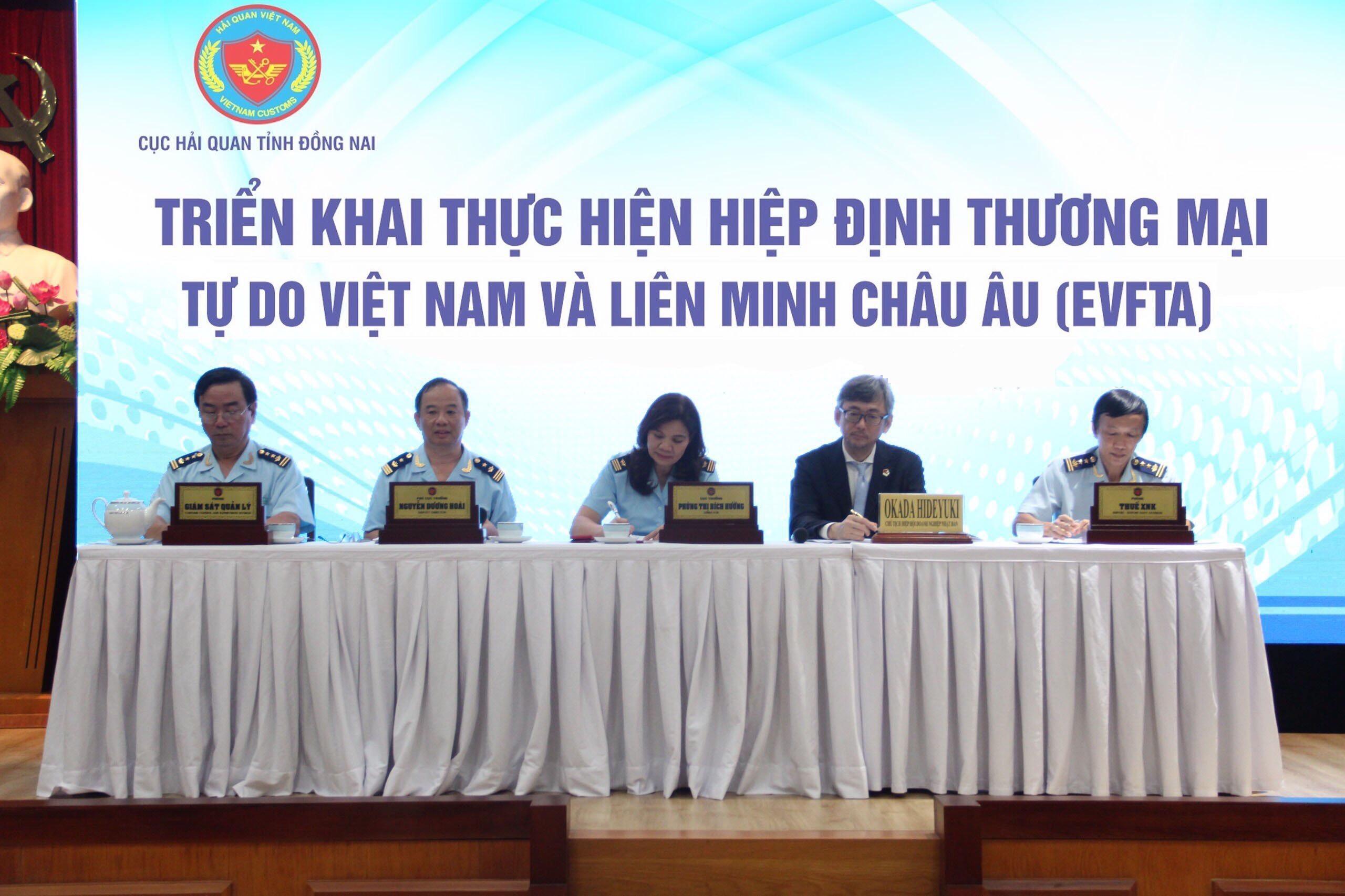 Hải quan Đồng Nai triển khai thực hiện Hiệp định thương mại tự do Việt Nam và Liên minh châu Âu (EVFTA)