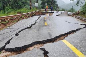 Đoạn nứt gãy trên Quốc lộ 12A gần cửa khẩu Cha Lo sẽ được xử lý thế nào?
