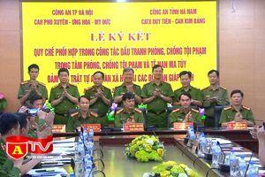 Ký kết quy chế phối hợp giữa Công an 5 huyện, thị xã thuộc thành phố Hà Nội và Công an tỉnh Hà Nam