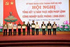 Thành phố Hà Nội tổng kết 12 năm thực hiện Pháp lệnh Công nghiệp Quốc phòng