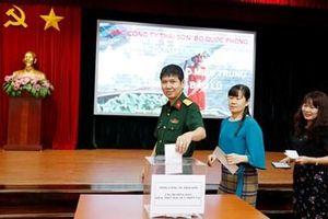Tổng công ty Thái Sơn (Bộ Quốc phòng) tổ chức quyên góp ủng hộ đồng bào miền Trung